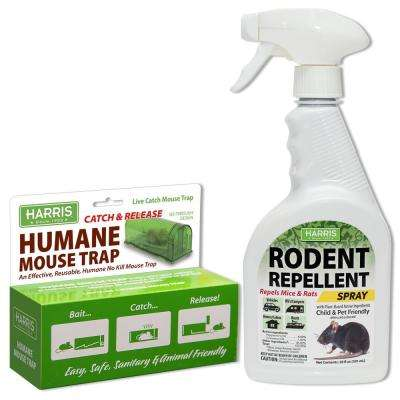 Catch and Release Humane Mouse Trap and Rodent Repellent Spray Value Pack