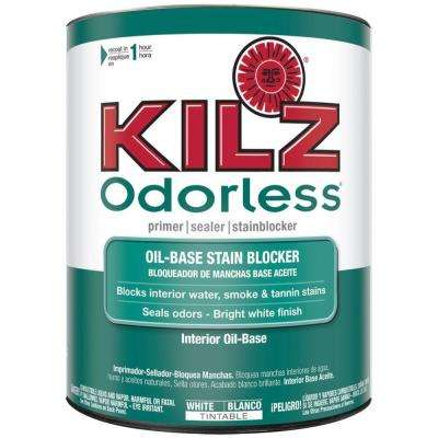 Odorless 1 qt. White Oil-Based Interior Primer, Sealer and Stain-Blocker