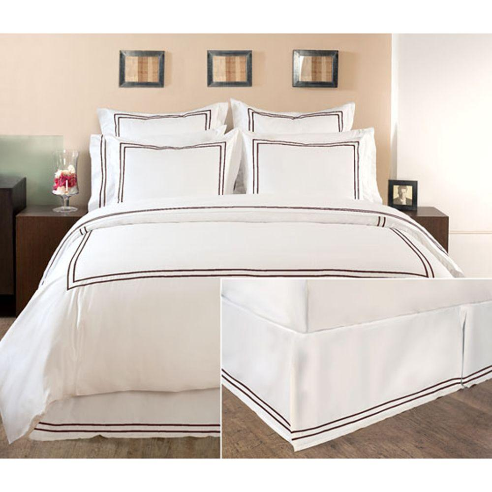Home Decorators Collection Embroidered Pincone Path King Box-Pleat Bedskirt