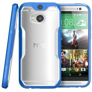 SUPCASE Unicorn Beetle Hybrid Bumper Case for HTC One, Clear/Blue by
