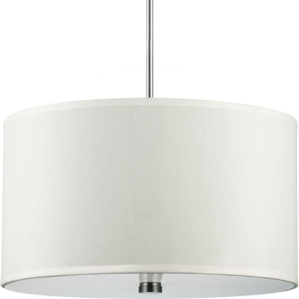 seagull pendant lighting. sea gull lighting dayna shade 3-light brushed nickel pendant-65263-962 - the home depot seagull pendant