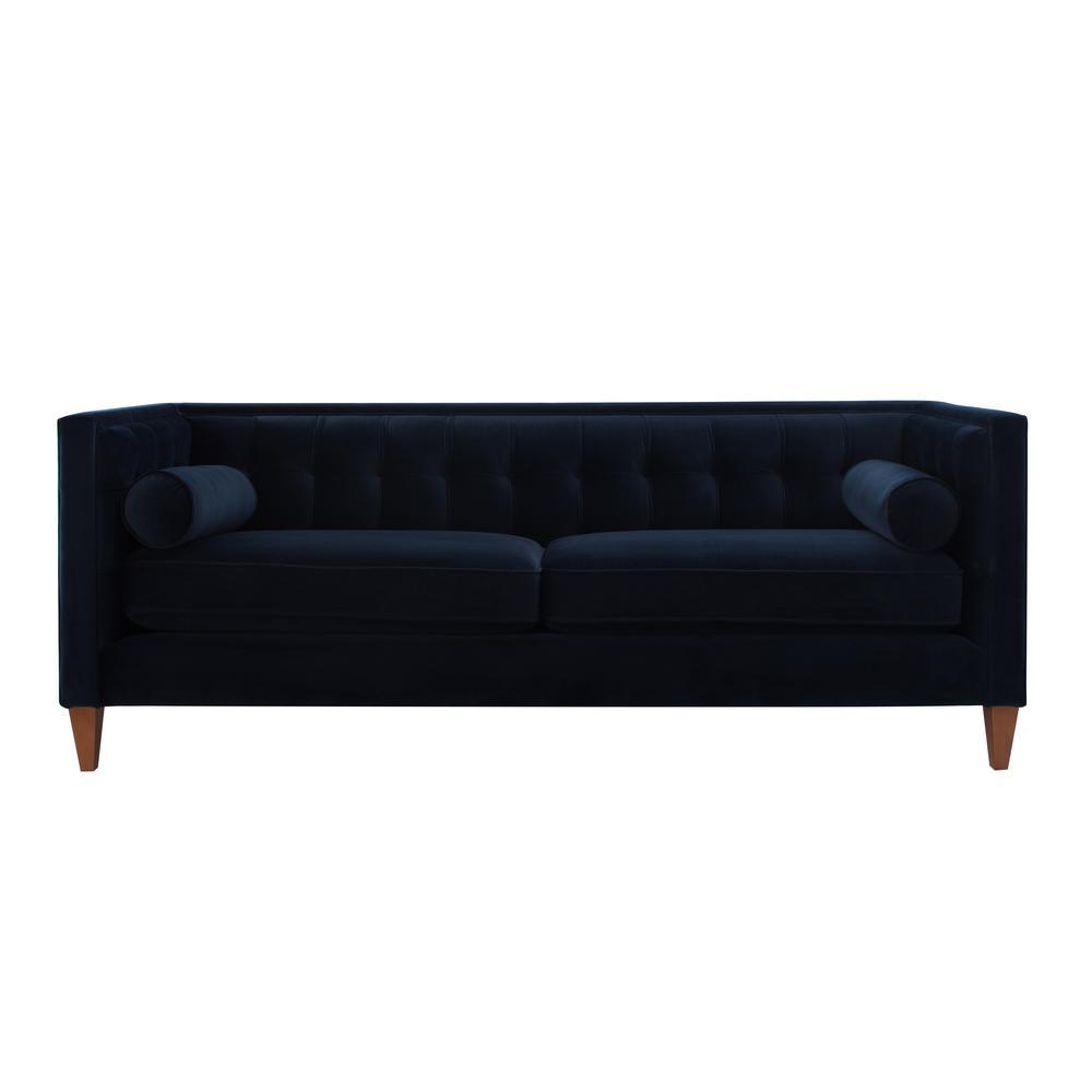 Jack Tuxedo Dark Navy Blue Sofa
