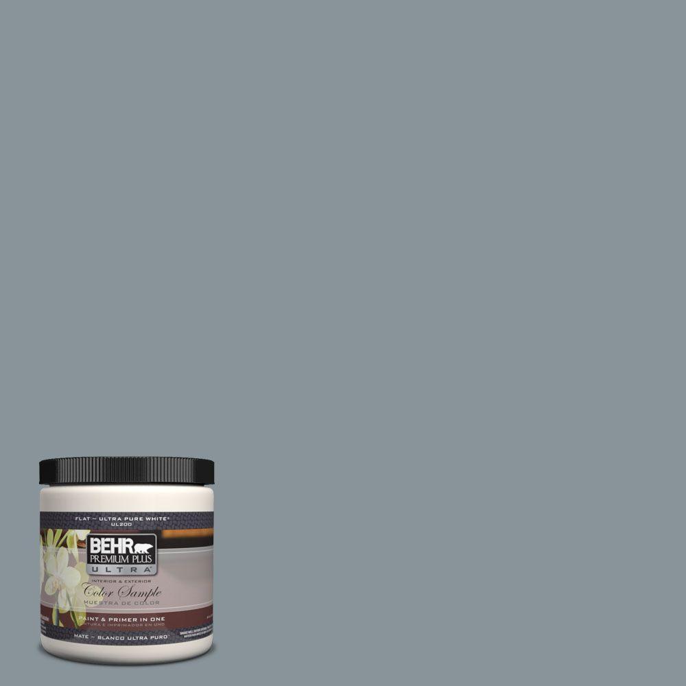 BEHR Premium Plus Ultra 8 oz. #UL220-20 Atmospheric Interior/Exterior Paint Sample