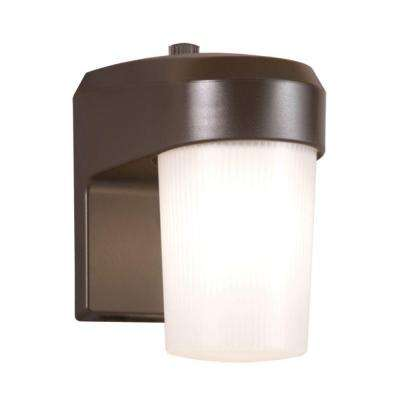 13-Watt Bronze Outdoor Fluorescent Entry Light with Dusk to Dawn Photocell Sensor