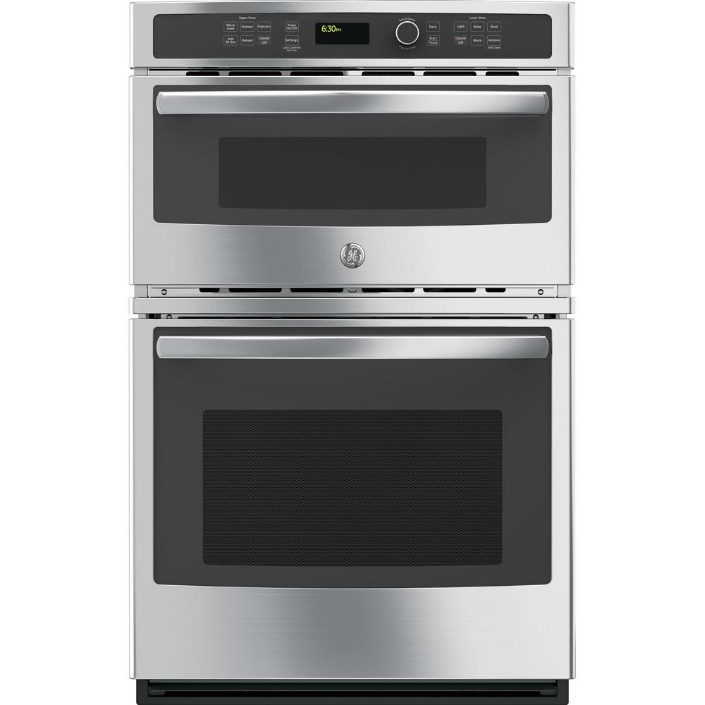 Ge 27 In Double Electric Wall Oven With Built Microwave