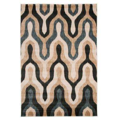 Opus Silhouette Teal 3 ft. 3 in. x 5 ft. Area Rug