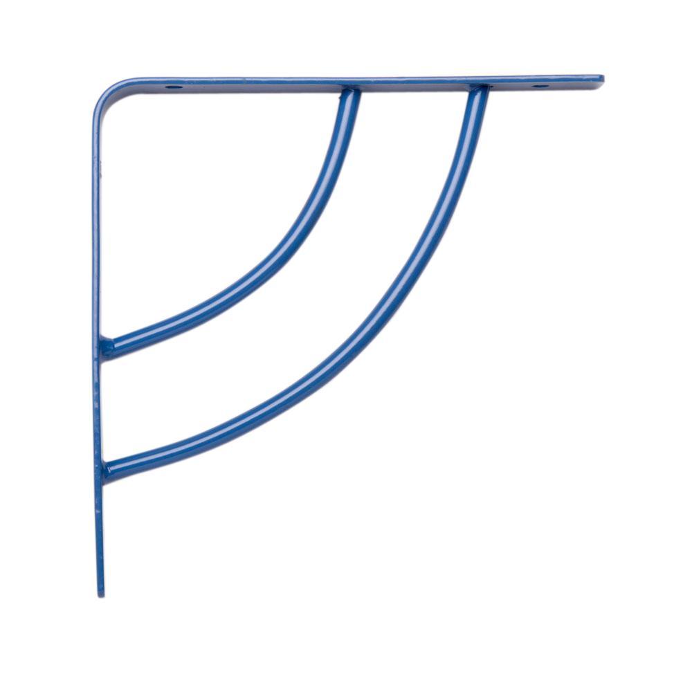 Milano 6 in. x .75 in. Blue 25 lb. Decorative Shelf Bracket