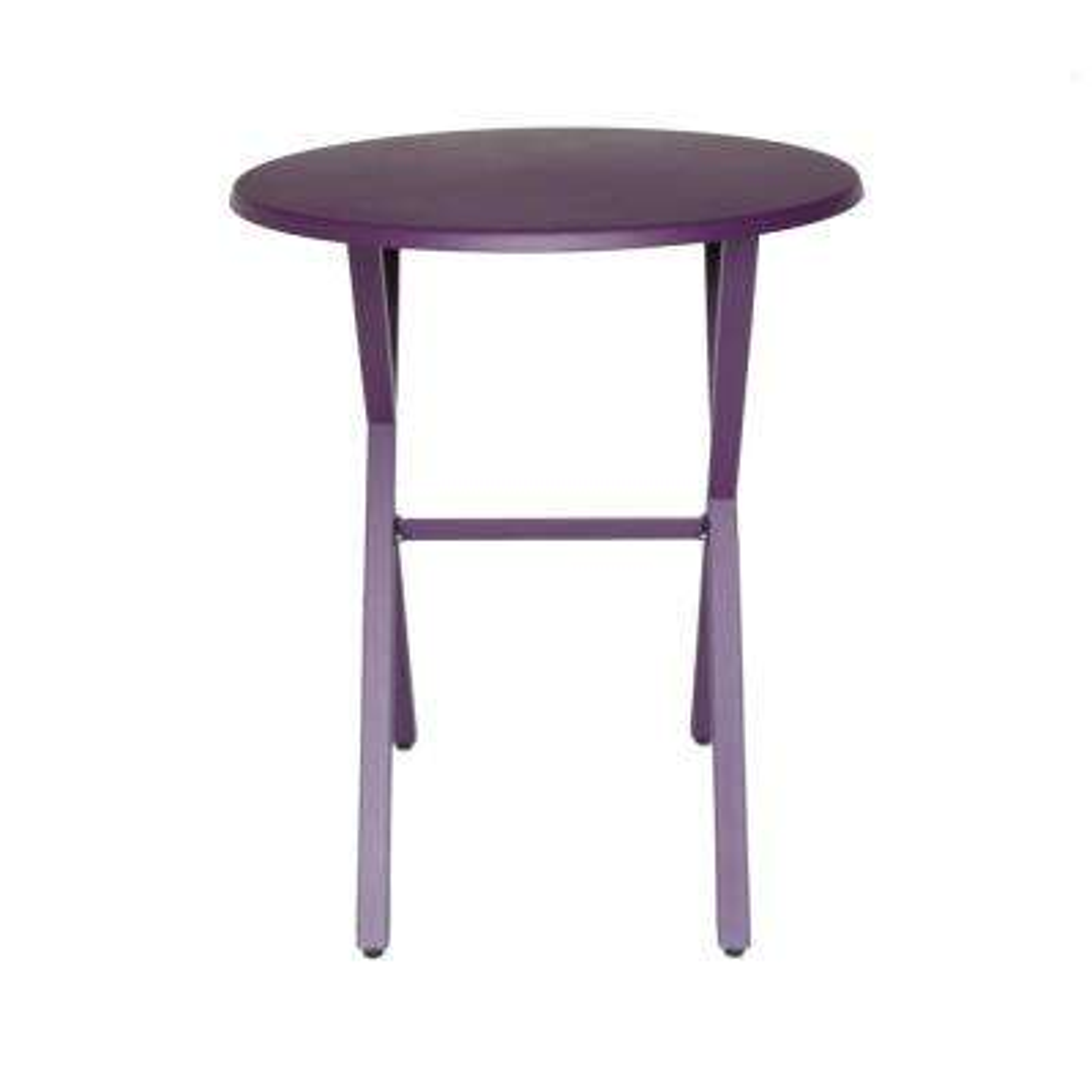 Taro Matte Purple Round Metal Outdoor Bistro Table