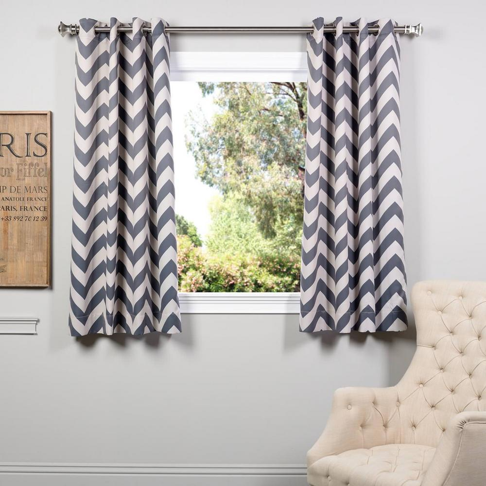 Exclusive Fabrics Furnishings Semi Opaque Fez Grey And Tan Grommet Blackout Curtain