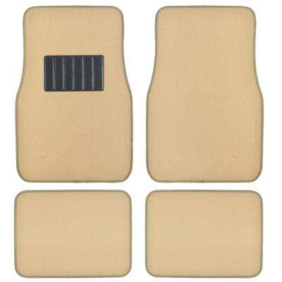 Classic MT-100 Light Beige Carpet With Rubberized Backing 4-Piece Car Floor Mats