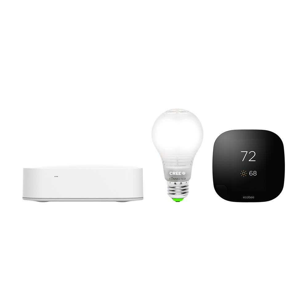 Samsung Smartthings Hub With Cree Connected Led Bulb And