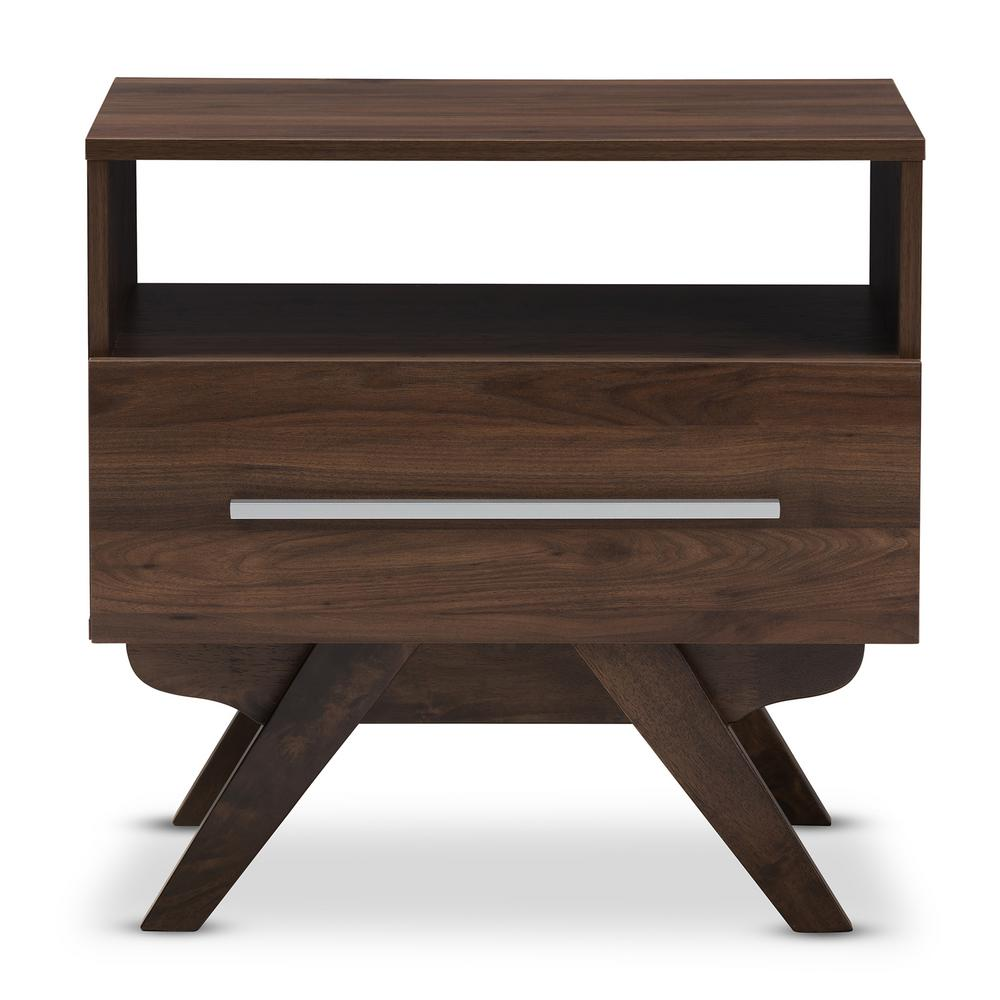 Ashfield 1-Drawer Brown Nightstand
