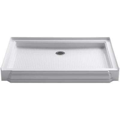 Memoirs 48 in. x 34 in. Single Threshold Shower Base in White