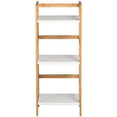 White 3-Tier Mini Tower Bookcase
