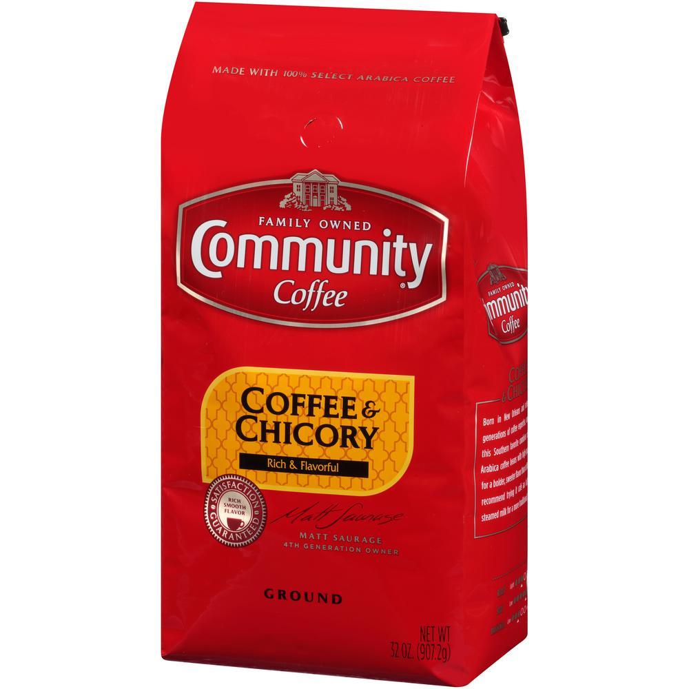 32 oz. Coffee and Chicory Medium-Dark Roast Premium Ground Coffee (Pack of 4)