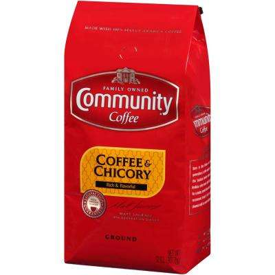 32 oz. Coffee and Chicory Medium-Dark Roast Premium Ground Coffee (Pack of 4)