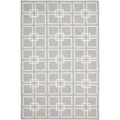 Martha Stewart Cement Gray 8 ft. X 10 ft. Area Rug