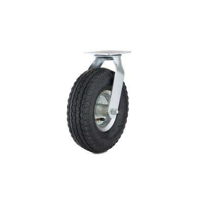 10 in. black Swivel Without Brake plate Caster, 264.6 lb. Load Rating