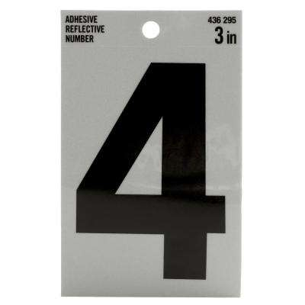3 in. Vinyl Reflective Number 4