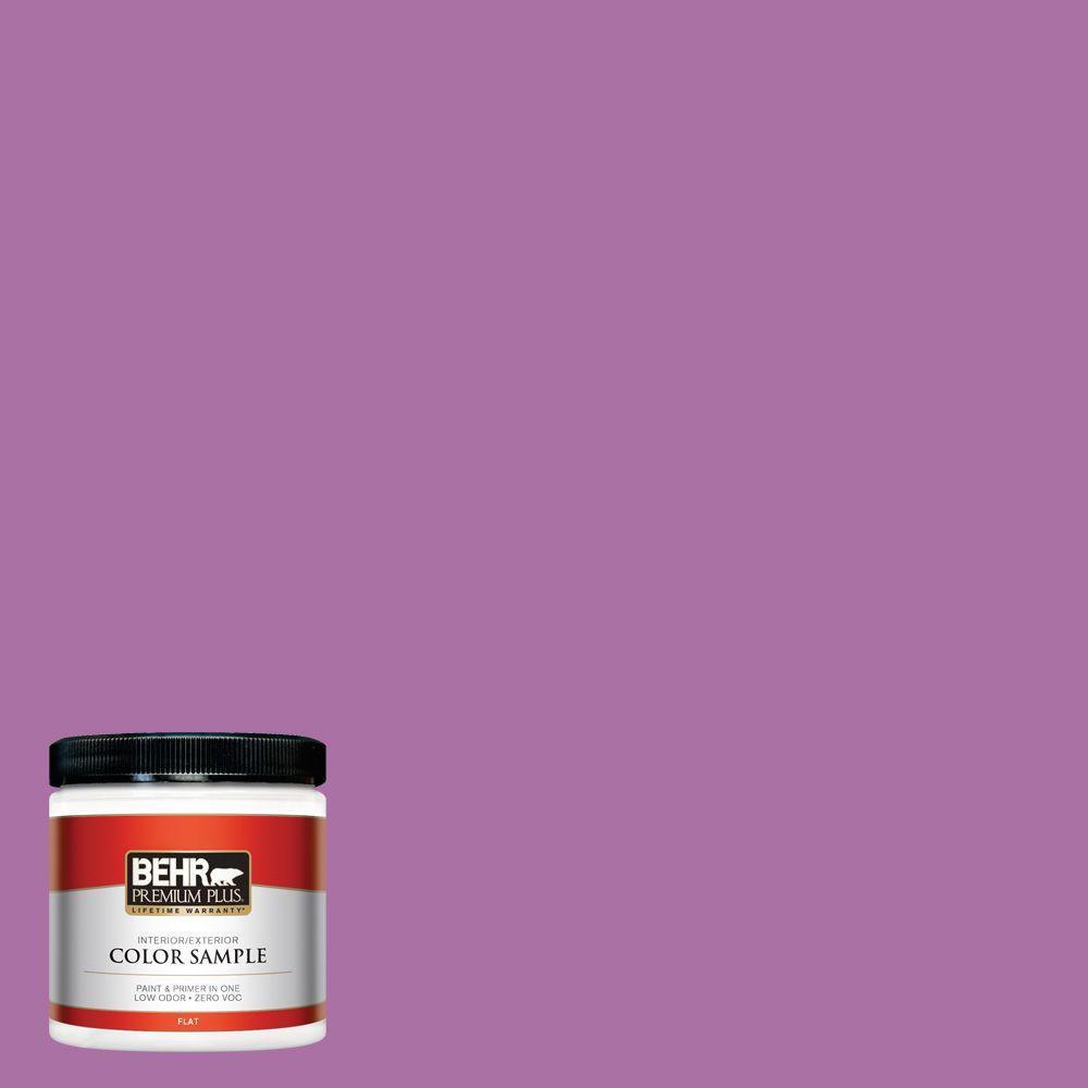 BEHR Premium Plus 8 oz. #670B-6 Orchid Kiss Interior/Exterior Paint Sample