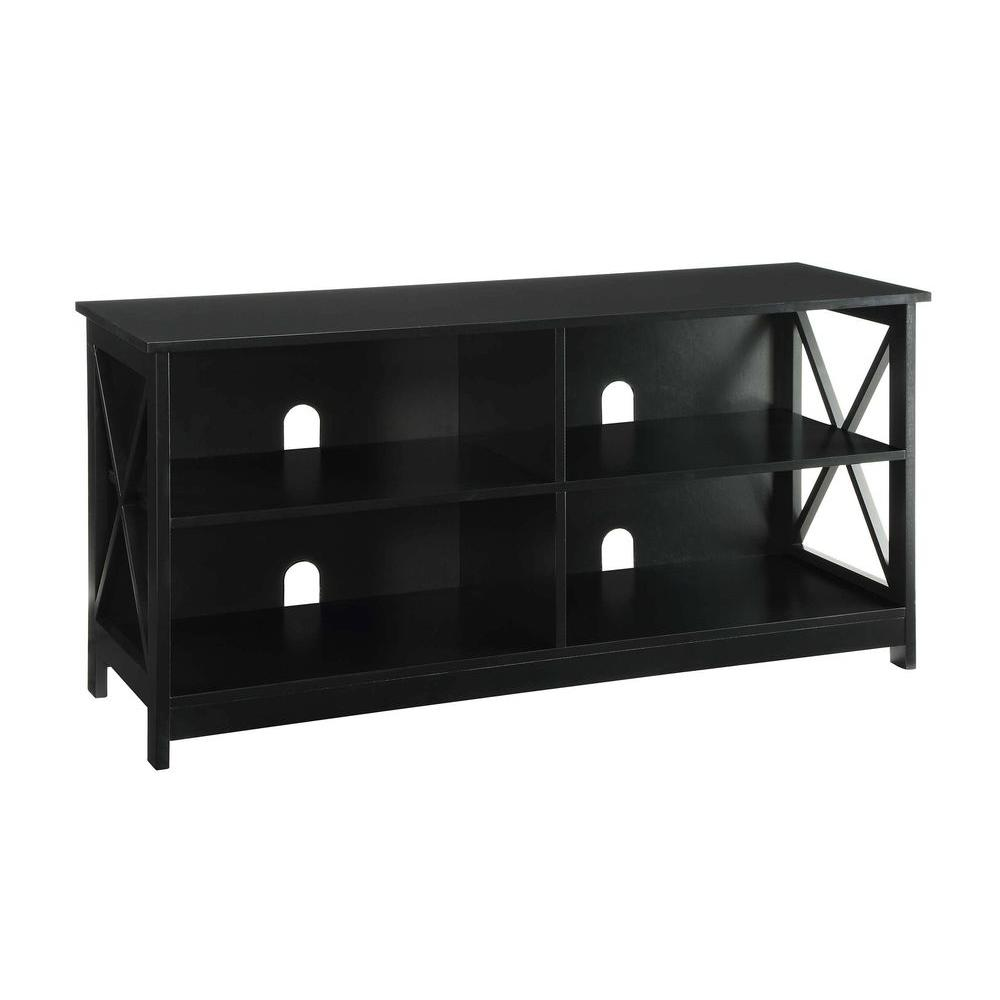 Designs2Go Oxford Black Storage Entertainment Center