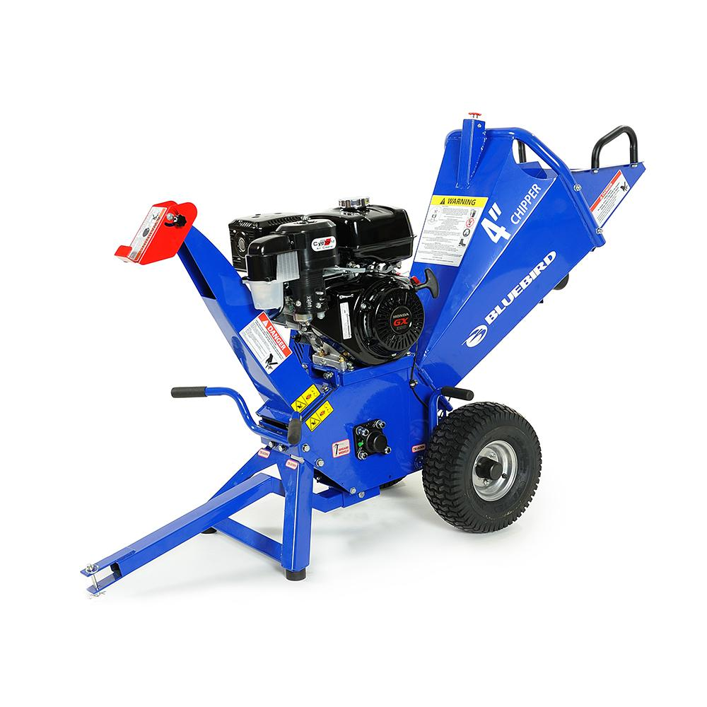 Bluebird Bluebird 4 In 13 Hp Gas Powered Commercial Chipper Shredder With Honda Gx390 Engine Ch400h The Home Depot