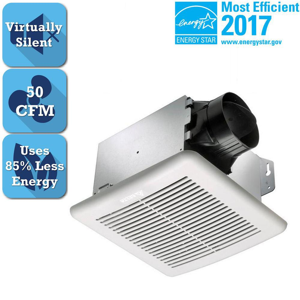Delta Breez GreenBuilder Series 50 CFM Ceiling Bathroom Exhaust Fan, ENERGY STAR