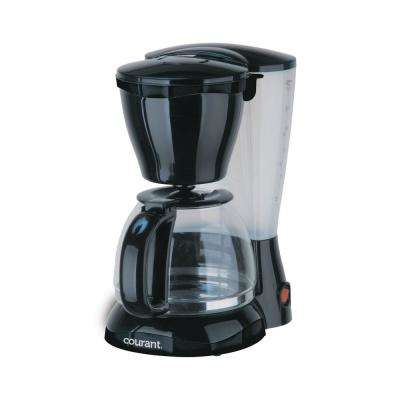 8-Cup Anti Drip Coffee Maker in Black