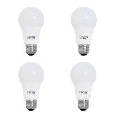 60-Watt Equivalent A19 Dimmable CEC Title 20 Compliant LED ENERGY STAR 90+ CRI Light Bulb, Daylight (4-Pack)