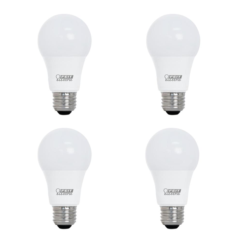 Feit Electric 60-Watt Equivalent A19 Dimmable CEC Title 20 Compliant LED ENERGY STAR 90+ CRI Light Bulb, Daylight (4-Pack)