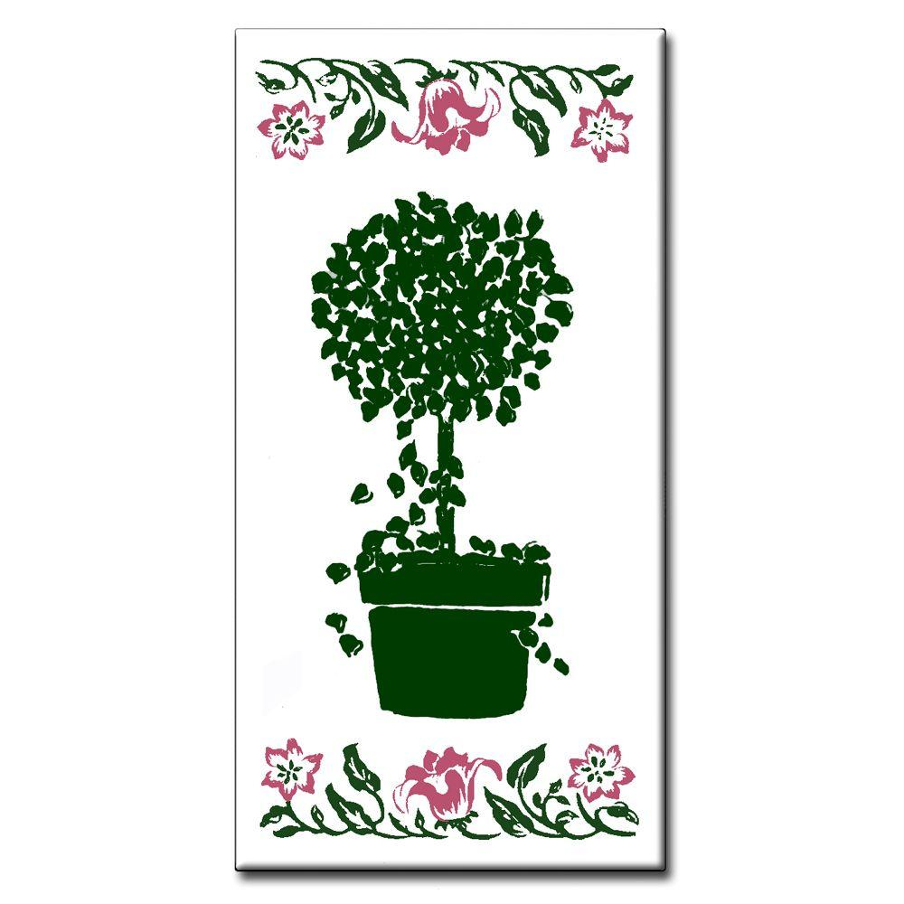 2 in. x 4 in. Lily Topiary Spacer