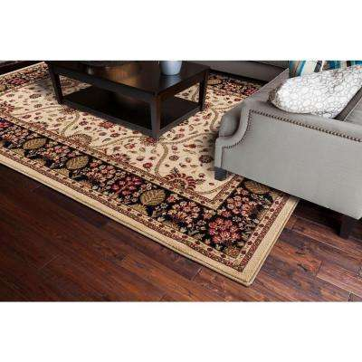 Jewel Collection Voysey Ivory Rectangle Indoor 9 ft. 3 in. x 12 ft. 6 in. Area Rug