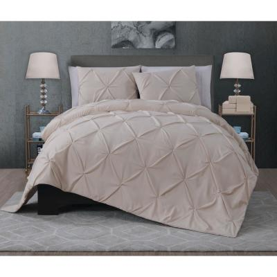 Ella 7-Piece Taupe King Quilt Set