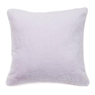 Luxe Fur Lavender Animal Print Polyester 18 in. x 18 in. Throw Pillow