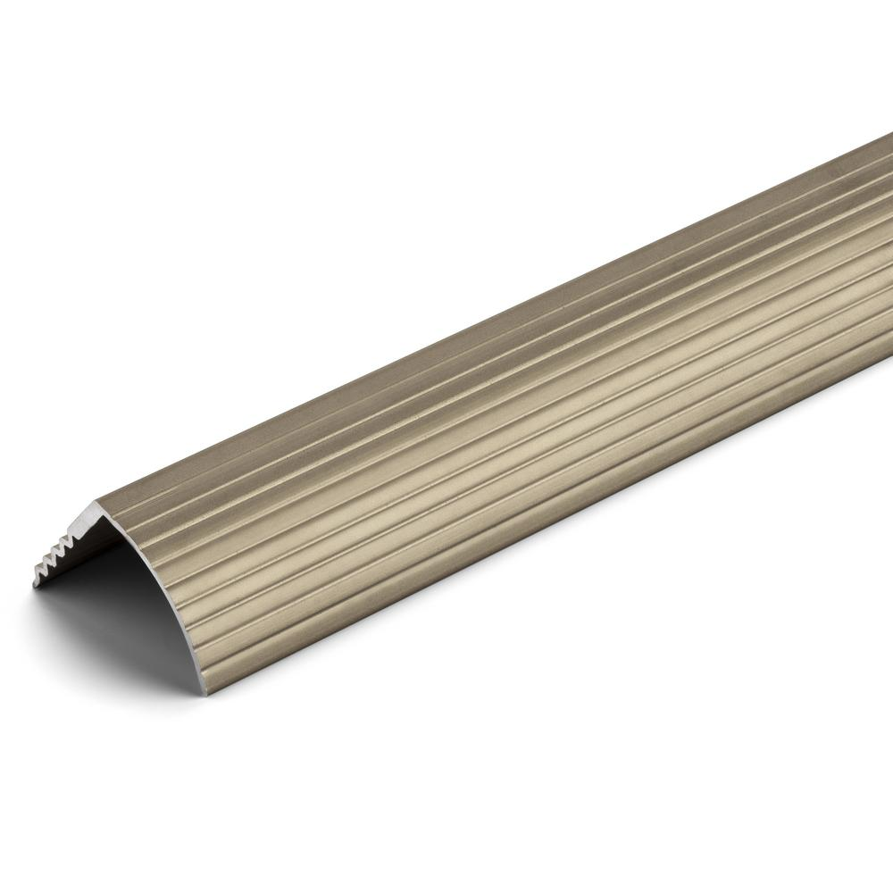 TrafficMASTER Satin Nickel 1-1/16 in. x 144 in. Aluminum Stair Edging Transition Strip