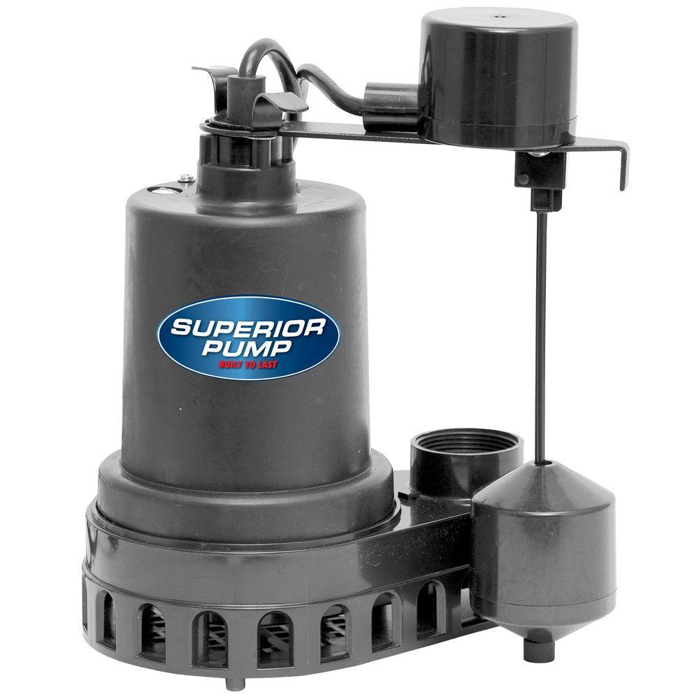 Superior Pump 1/2 HP Submersible Thermoplastic Sump Pump