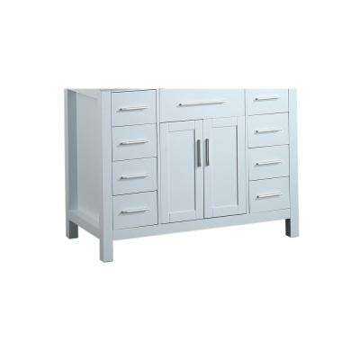 Bosconi 43 in. Main Cabinet Only in White with Polished Chrome Hardware