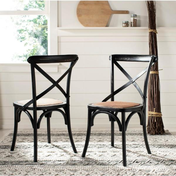 Safavieh Franklin Hickory Oak X Back Dining Chair Set Of 2