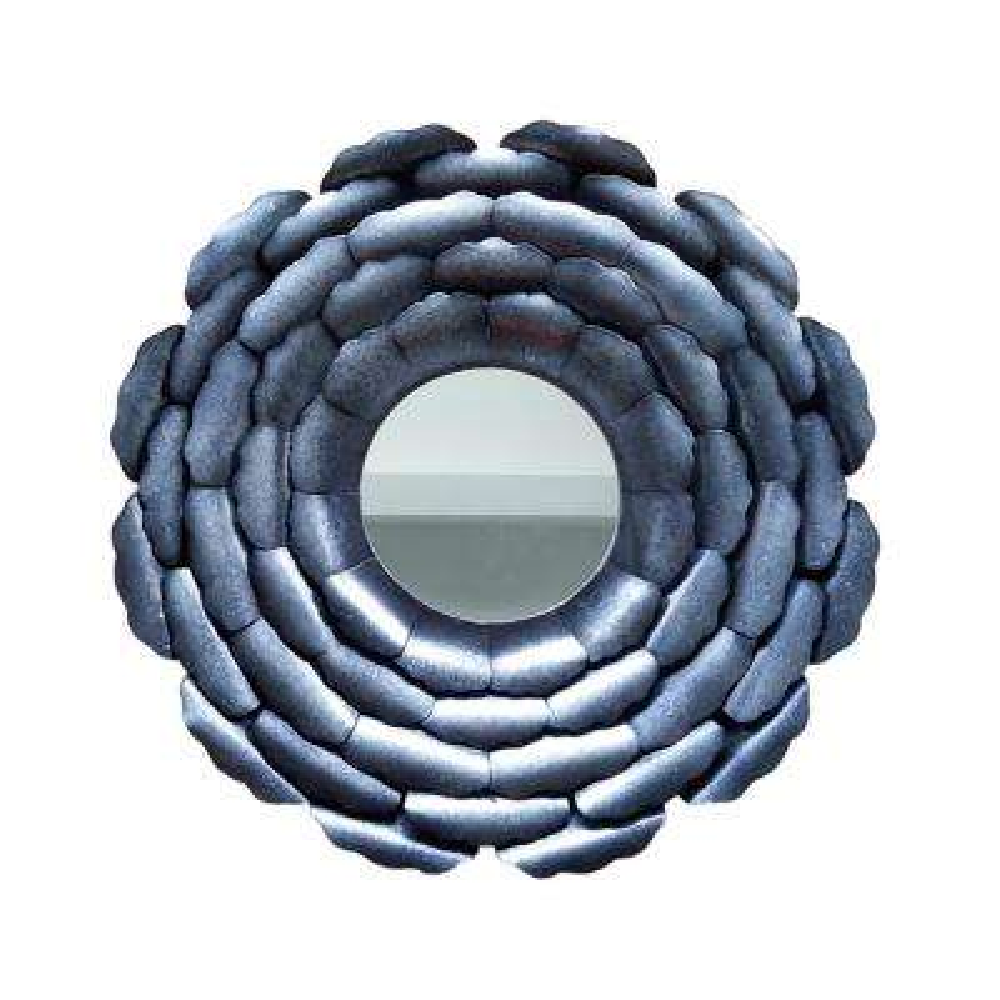 Anais Circle Black Decorative Mirror