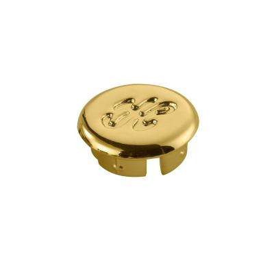 Faucet Index Cap, Polished Brass - Hot