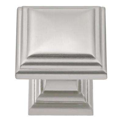 Somerset Collection 1-1/16 in. Dia Satin Nickel Finish Cabinet Knob