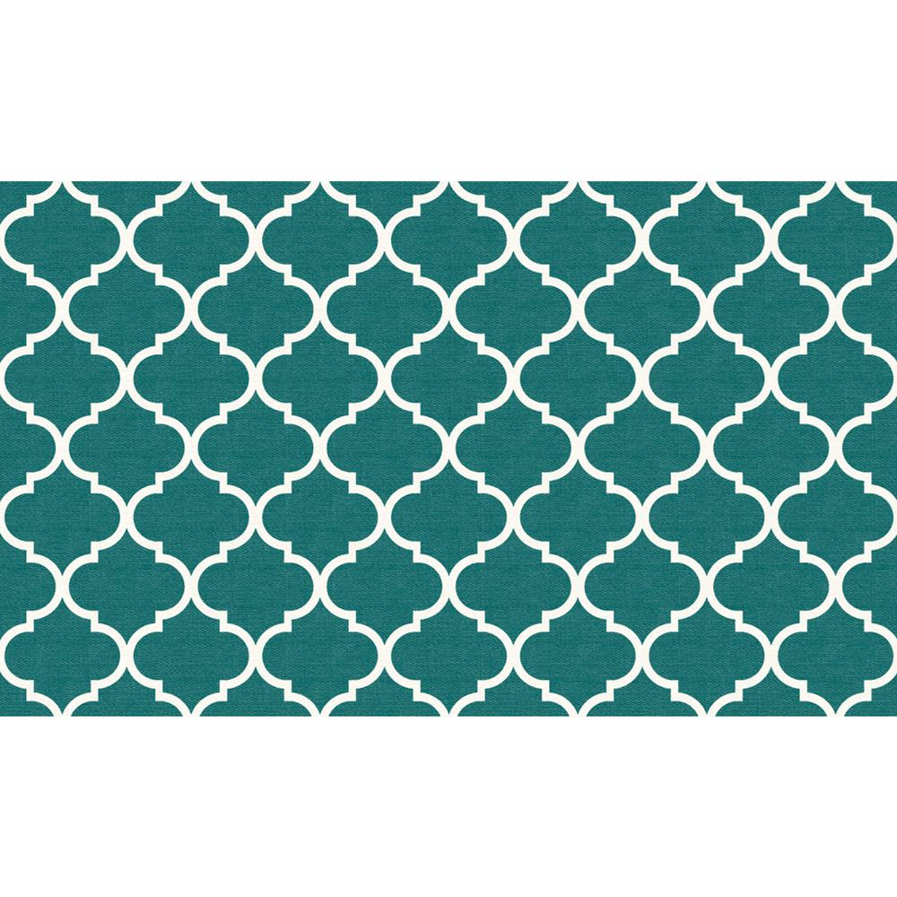 Ruggable Washable Moroccan Trellis Teal 3 Ft. X 5 Ft