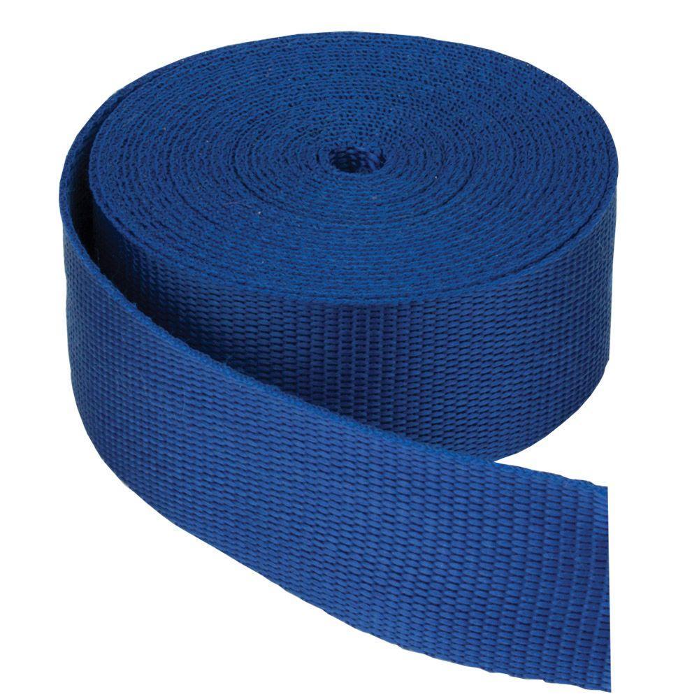 Everbilt 1-1/2 in. Webbing Strap, Blue