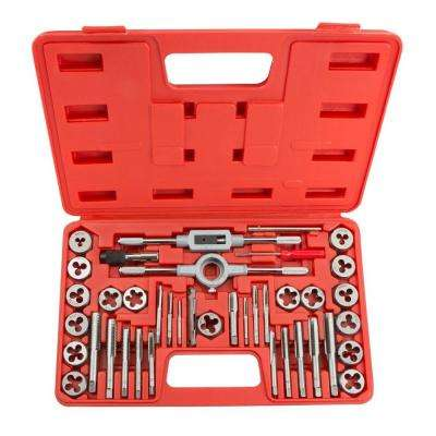 Inch Tap and Die Set (39-Piece)