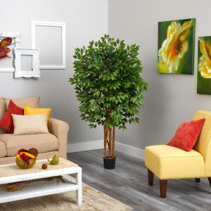 5 ft. Super Deluxe Ficus Artificial Tree with 2100-Bendable Branches