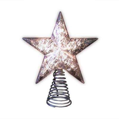 8.5 in. Silver Mercury Tree Topper