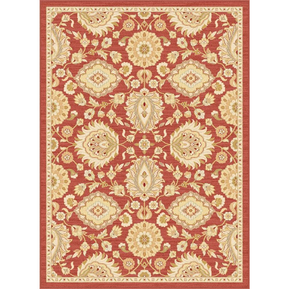 Tayse Rugs Antique Treasure Red 8 ft. 9 in. x 12 ft. 3 in. Indoor Area Rug
