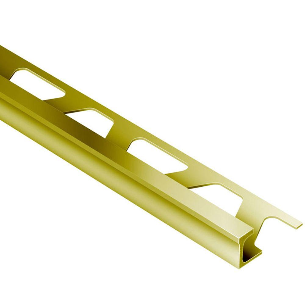Schluter Deco Solid Brass 11/32 in. x 8 ft. 2-1/2 in. Metal Tile Edging Trim