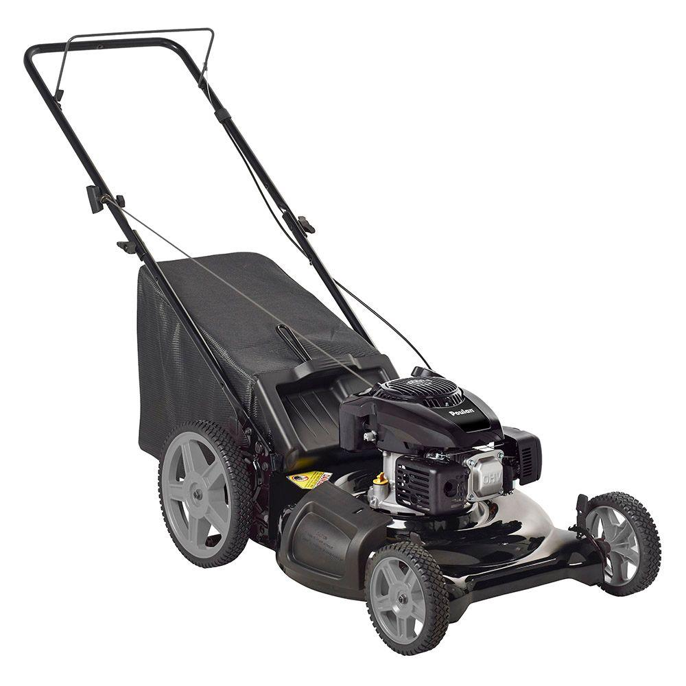 Poulan 21 in walk behind manual push gas mower with for Depot moers