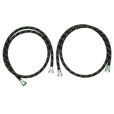 5 ft. Nylon Braided Washer Fill Hose Kit (2-Pack)